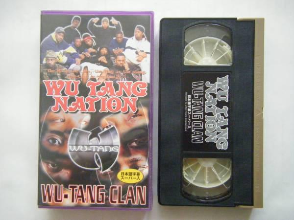 即決中古VHSビデオ WU TANG CLAN / WU TANG NATION 60分・日本語字幕スーパー入り / 詳細は写真4と5をご参照ください