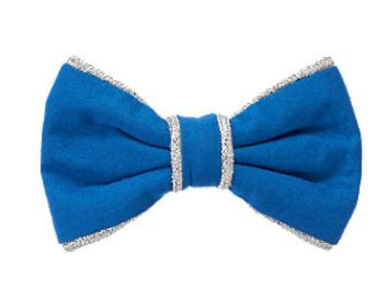 ジンボリー 青×シルバー ラメ リボン バレッタ 新品 マリン 海_とってもかわいいリボンバレッタです