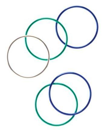 ジンボリー 青×シルバー ラメ リボン バレッタ 新品 マリン 海_おそろいのブレスレットも別途手ピン中です