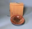 城戸夏男 作 鉄砂釉菓子鉢(共箱)茶道具