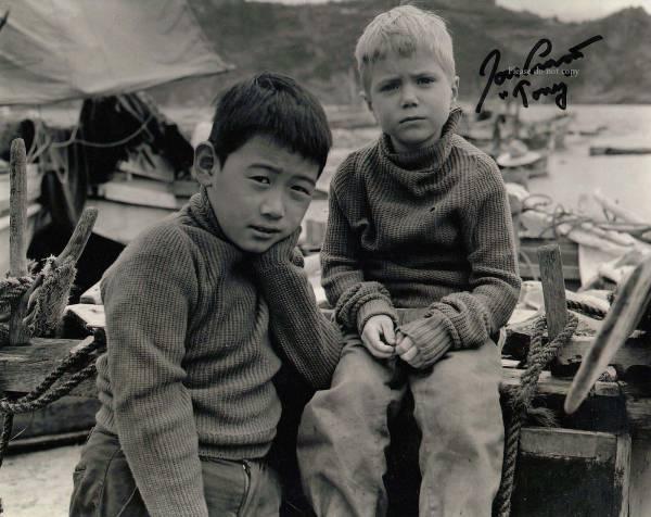 1957年映画 二人の可愛い逃亡者 ジョン・プロヴォスト直筆サイン