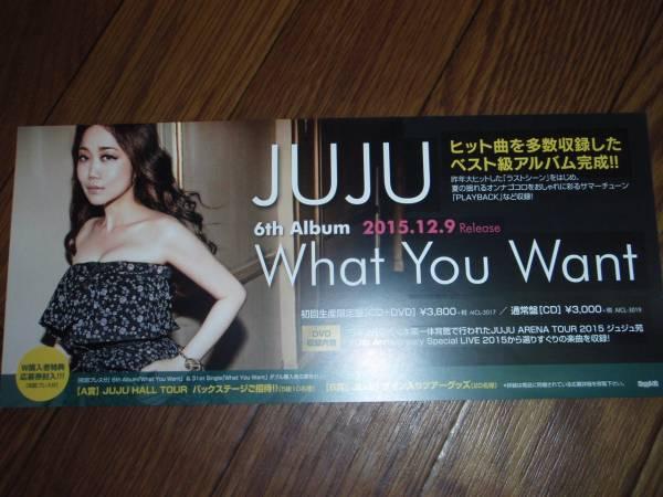 【ミニポスターF13】 JUJU/What You Want 非売品!