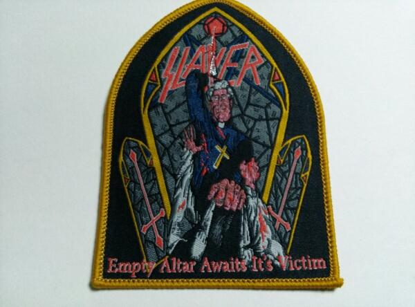 SLAYER 刺繍パッチ ワッペン empty altar / iron maiden motorhead