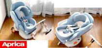 ◆Q◆美品 Aprica 360度回転チャイルドシートベッド◆新生児~◆
