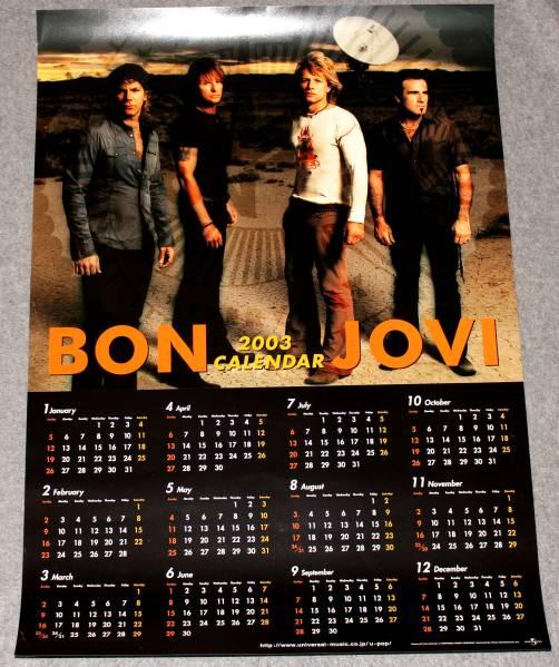 Я3 2003カレンダーポスターA2 [ボン・ジョヴィ/Bon Jovi]