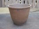 植木鉢  15.5cm×上外径18cm たぶん信楽焼