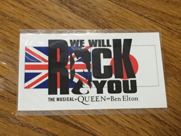 「THE MUSICAL by QUEEN and Ben Elton」ステッカー未開封品送0