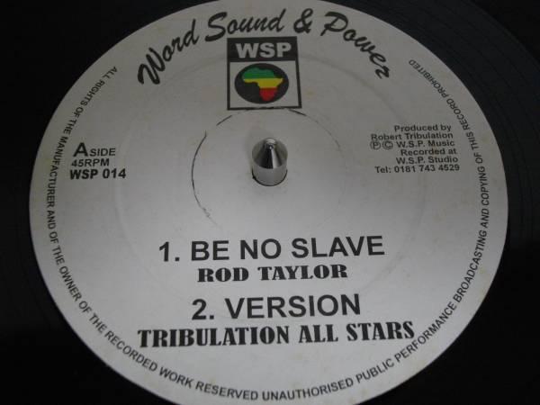 Rod tayler [be no slave] 12inch オリジナル new roots EX reggae レゲエ vintage ビンテージ ルーツ digital デジタル UK org テイラー_画像1