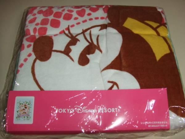 TDR☆ミニーマウス☆シングルサイズ☆タオルケット☆新品 ディズニーグッズの画像
