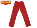 J3803★BIG-JOHN BM104★レッドカラーストレートジーンズ 160A