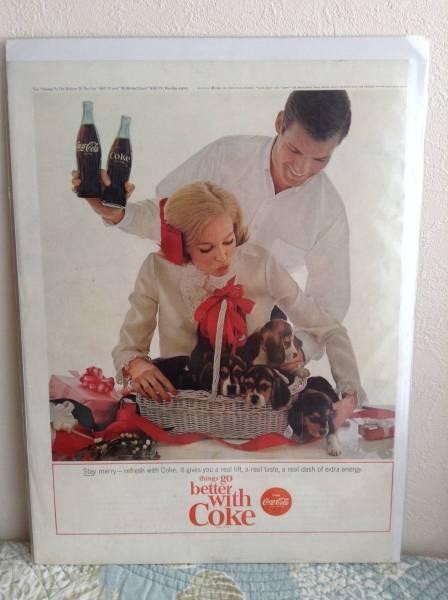 LIFE ライフ 広告 アメリカ 雑誌 ビンテージ コカコーラ 犬