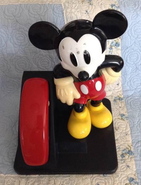 ディズニー☆ミッキーマウス電話機☆ジャンク☆ ディズニーグッズの画像