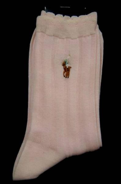 タグ付き・未使用◆ラルフローレン/靴下ソックス23cm1,050円ピンク_画像1