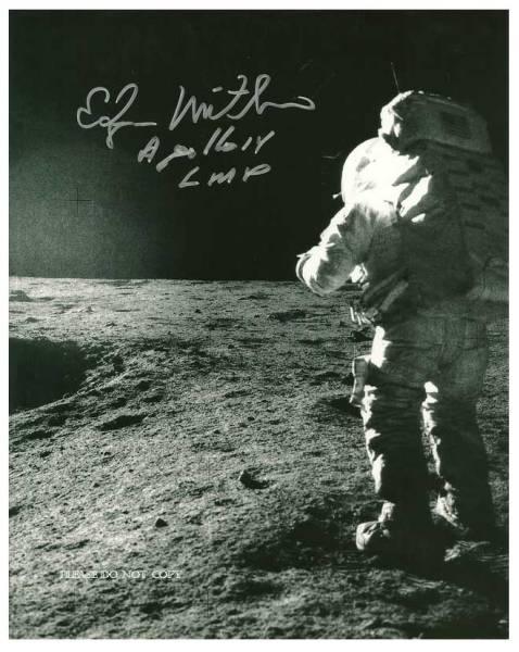 1972年 アポロ17号 エドガー・ミッチェル サイン フォト