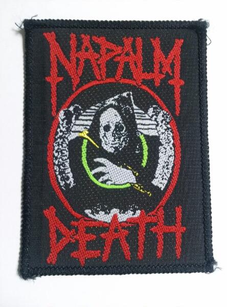 NAPALM DEATH 刺繍パッチ ワッペン / terrorizer nausea s.o.d