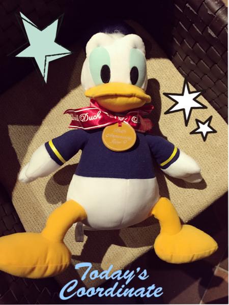 新品ドナルドダックバースデーぬいぐるみ☆ディズニー☆ disney ☆ おもちゃ ディズニーグッズの画像