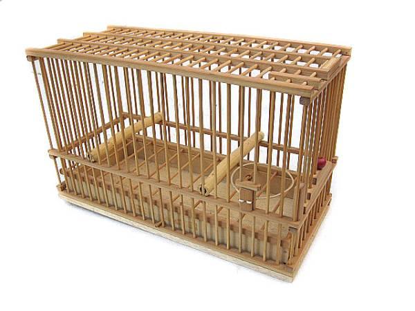 ★手作り竹かご小 鳥籠 未使用品_画像1