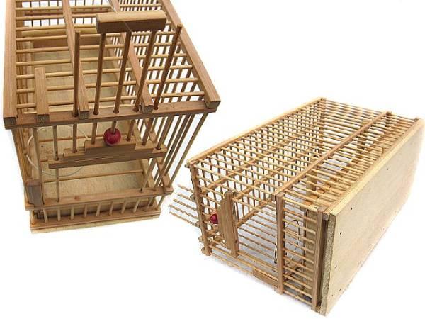 ★手作り竹かご小 鳥籠 未使用品_画像2