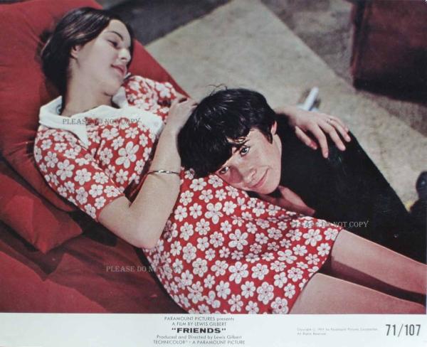 1971年 映画 フレンズ ポールとミシェル ロビーカード 2枚 付き