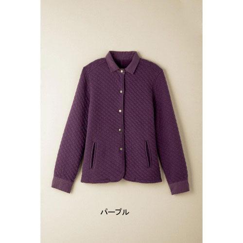 新品タグ付き 千趣会 ベルメゾン うれしい綿素材!キルティングジャケット コート 羽織りもの 紫 パープル 小さいサイズ S 7号 定価3,990円_画像1