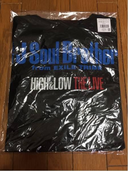 HiGH&LOW THE LIVE 三代目J Soul Brothers ビッグTシャツ BLACK