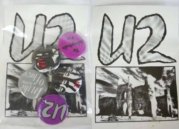 U2 80'S VINTAGE デッドストック ヴィンテージ バッジ 5個セット エアロスミス BON JOVI 缶バッチ 缶バッジ