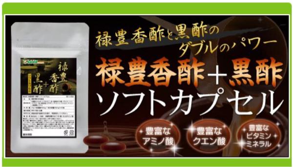 禄豊香醋+黒酢ソフトカプセル 約1ヵ月分 アミノ酸 クエン酸 健康食品 サプリメント_画像1