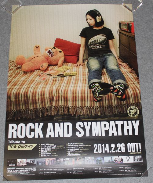 ● 告知ポスター the pillows/ピロウズ[ROCK AND SYMPATHY]
