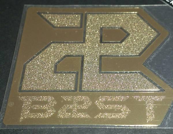 BEAST ロゴ メタル ステッカー シール ゴールド 中 B2ST