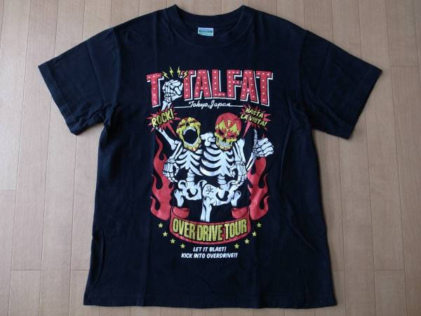 トータルファット SABBAT13 コラボ OVER DRIVE TOUR 2010 Tシャツ S ブラック TOTALFAT サバトサーティーン 東名阪 ツアー LIVE ライブ