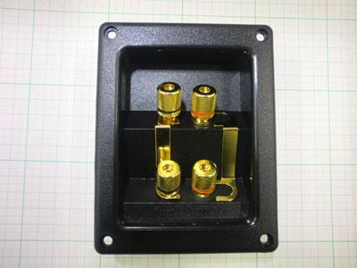☆スピーカーターミナル2連 T-122 (1個)バイワイヤリング 自作スピーカー コンキャビティ型_画像1