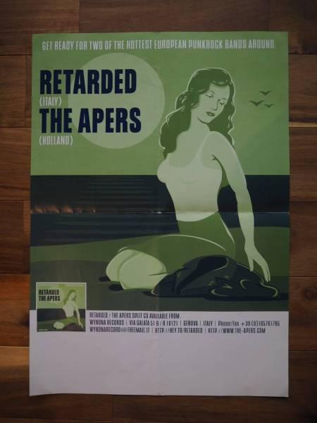 RETARDED / THE APERS ポスター ポップパンク RAMONES