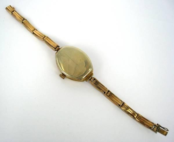 【アンティーク】 ダイヤモンド トノーシェイプ 14金 腕時計_画像3