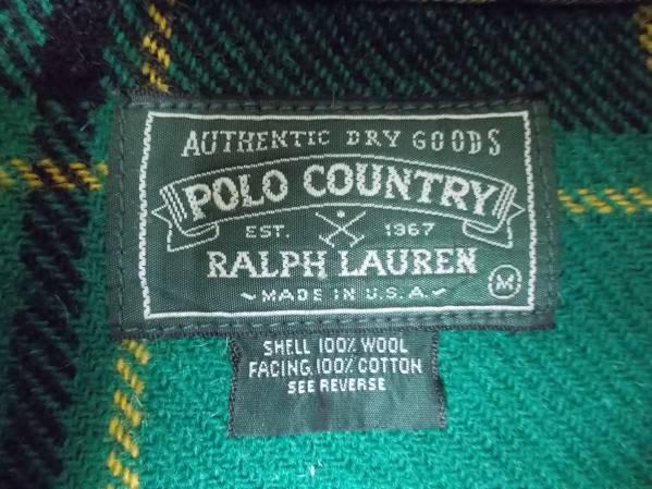 ◆送料無料 希少◆ラルフローレン ポロカントリー ウール シャツ M USA アメリカ製 ヴィンテージ POLO COUNTRY RALPH LAUREN_画像3