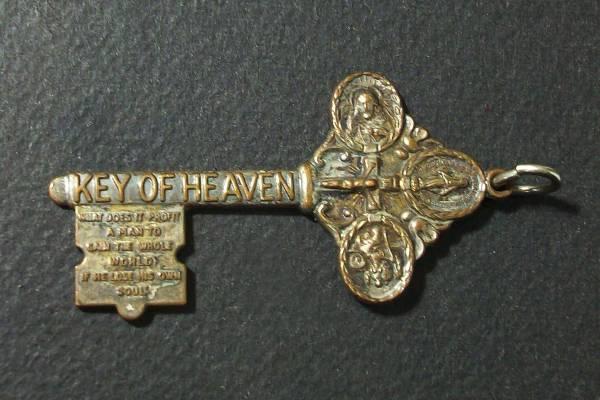 10 鍵型 メダイ KEY OF HEVEN 天国の鍵 キリスト教 送料込