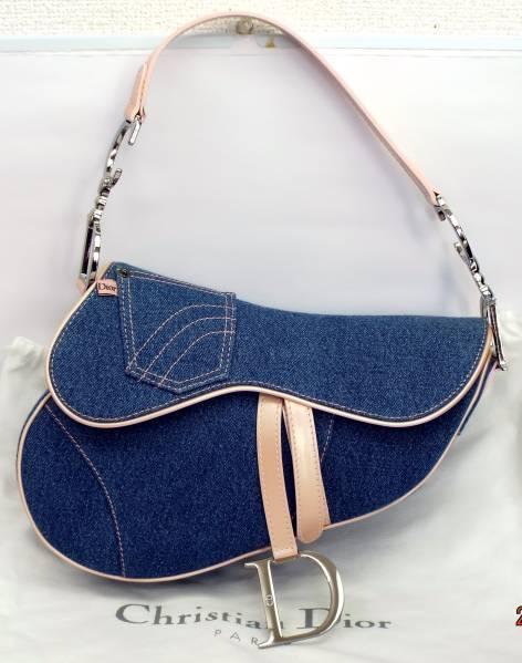 お得商品 Dior ディオール サドルバッグ デニム/ピンク 新品 送料無料