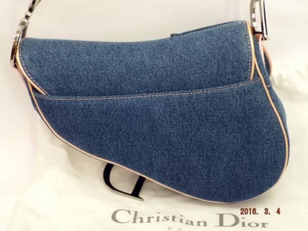 訳あり お得商品 Dior ディオール サドルバッグ デニム/ピンク 新品 送料無料_画像2