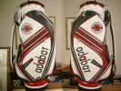 未使用 アダバット adabat グッドデザイン 合皮素材 白赤黒 ゴルフバッグ