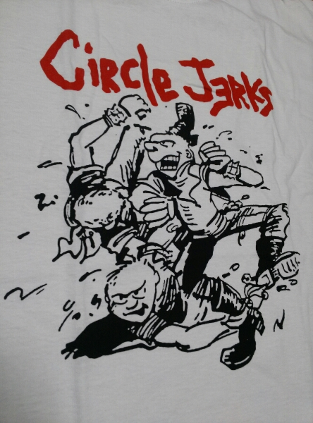 Circle Jerks Tシャツ 白M / black flag minor threat bad brains