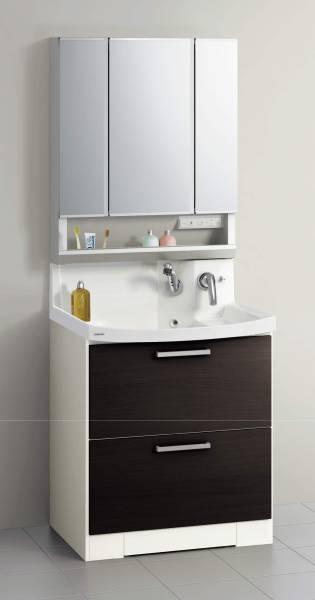④洗面台・ファンシオW750(オールスライド・3面鏡) ◆クリナップ