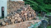 クヌギ ナラ 丸太玉切 薪ストーブ 350kg 未乾燥 石川県小松市 かんたん決済不可