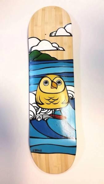 世界に1枚【Heather Brown】ヘザーブラウン真作原画直筆サイン入スケードボードMuuMuuHeaven Hawaii