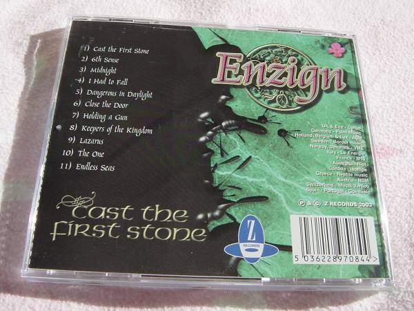 ENZIGN 「CAST THE FIRST STONE」 TEN関連 メロディアス・ハード系名盤_画像2