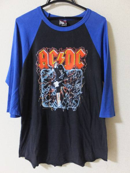 AC/DC/Tシャツ/ラグラン/七分袖/USA製/オフィシャル/2004