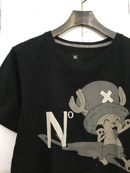 N° ONE PIECE チョッパー 半袖 Tシャツ 黒 ワンピース E6_画像3