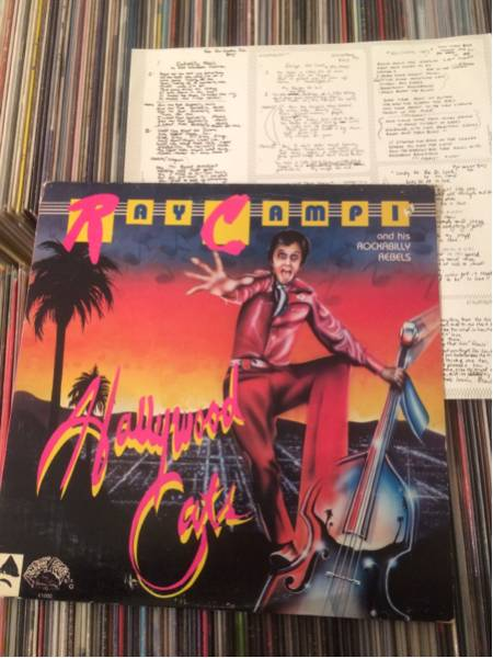 RAY CAMPI Orig LP Hollywood Cats 歌詞カード付き ロカビリー_画像1
