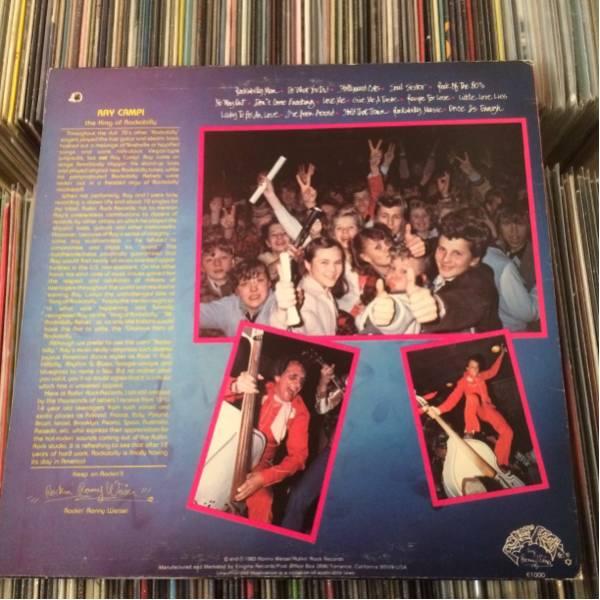 RAY CAMPI Orig LP Hollywood Cats 歌詞カード付き ロカビリー_画像2