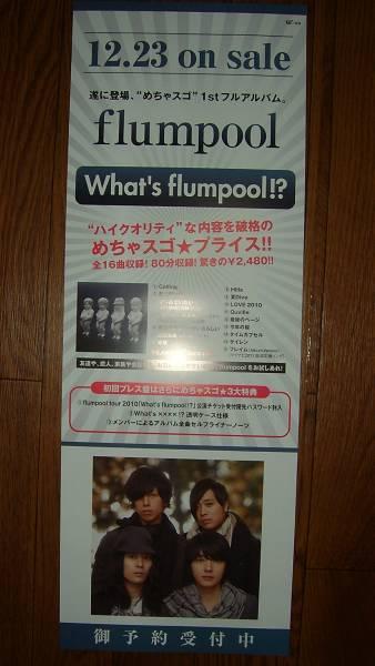 【ポスター3】 flumpool/what's flumpool!? 非売品!筒代不要!