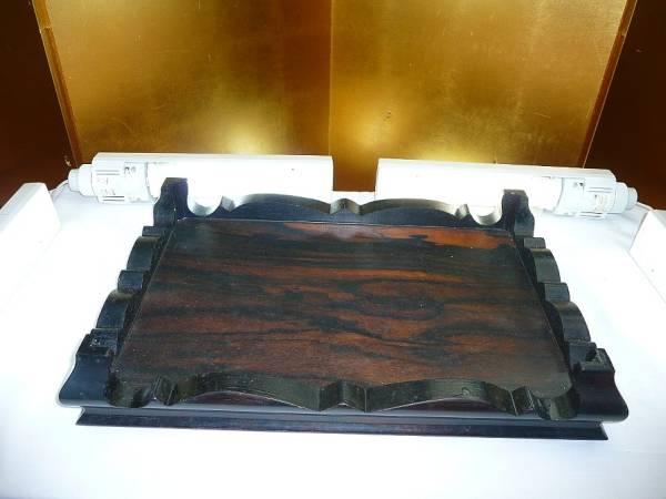 ずっしり重い硬木黒檀系の花台☆盆栽☆黒系☆玄関先和室に是非_画像3