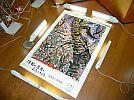 昭和32年弘前さくらまつり復刻版印刷ポスター棟方志功桜花大樹図